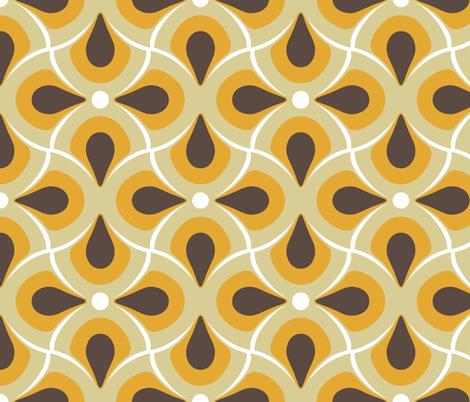retro featherly fabric by katarina on Spoonflower - custom fabric
