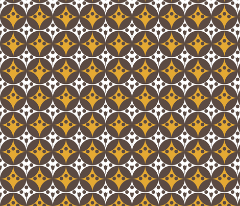 retro pattern fabric by katarina on Spoonflower - custom fabric