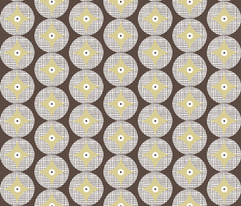 retro cathedral window pattern fabric by katarina on Spoonflower - custom fabric