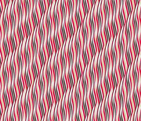 Retro waves fabric by cjldesigns on Spoonflower - custom fabric
