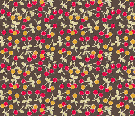 retro cherry kitch fabric by katarina on Spoonflower - custom fabric