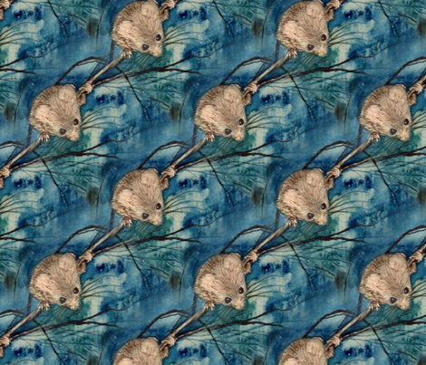 Debbie_s_Mice-_watercolor2 fabric by ddmote on Spoonflower - custom fabric