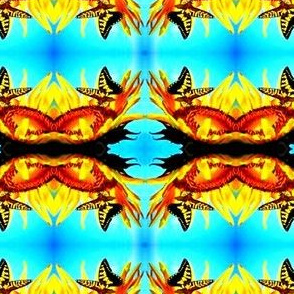 Butterflies on Sunflowers