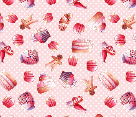 gourmandise fabric by nadja_petremand on Spoonflower - custom fabric
