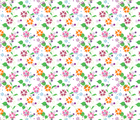 summer bloom fabric by snork on Spoonflower - custom fabric