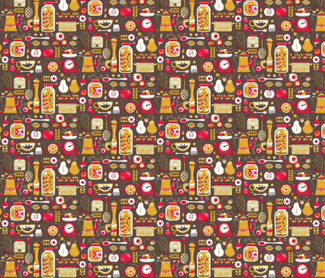 Mum's Kitchen  fabric by irrimiri on Spoonflower - custom fabric