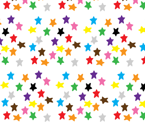 Coloured stars fabric by greennote on Spoonflower - custom fabric