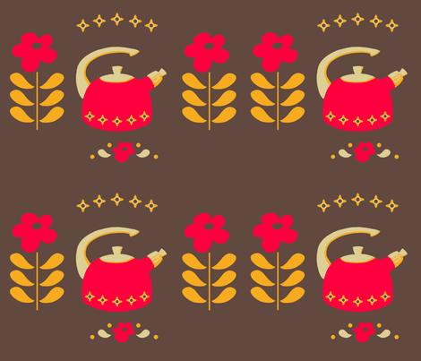 Happy little kettle fabric by annelinesophiadesigns on Spoonflower - custom fabric