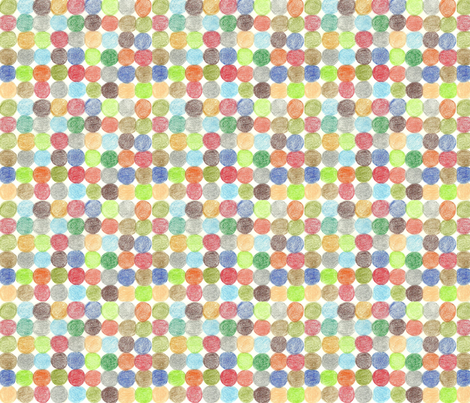 Meadow Dots in Multi fabric by kbexquisites on Spoonflower - custom fabric