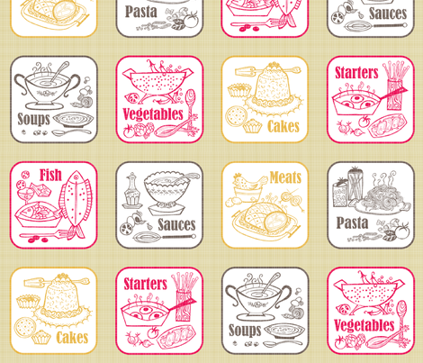 Buon_appetito_ fabric by niceandfancy on Spoonflower - custom fabric