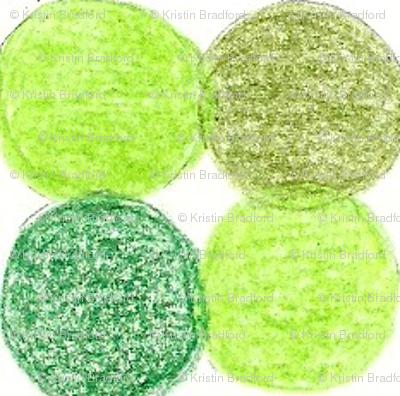 Meadow Dots in Green