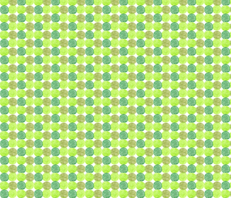 Meadow Dots in Green fabric by kbexquisites on Spoonflower - custom fabric