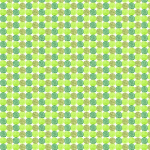 Meadow Dots in Green