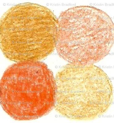 Meadow Dots in Orange