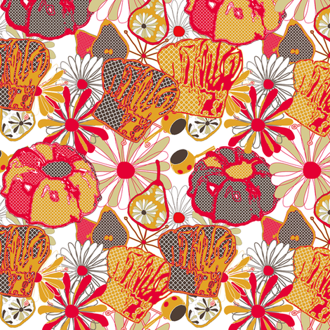 Groovy Kitchen fabric by lulabelle on Spoonflower - custom fabric