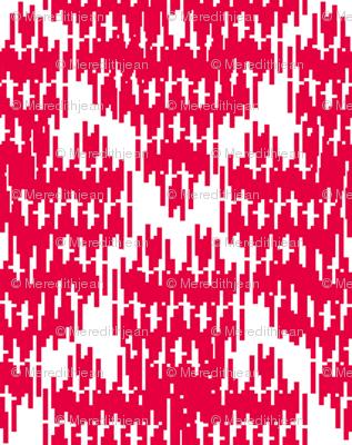 Retro Diamond Ikat  (red)