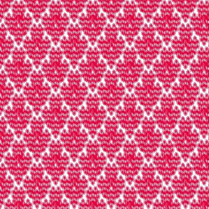 Retro Diamond Ikat  (red)