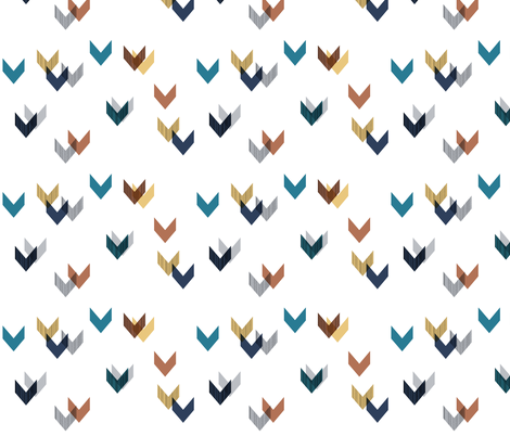 Spreading Apart Chevrons: Small fabric by stephanie on Spoonflower - custom fabric