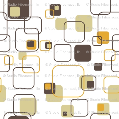 Groovy Cubes 9in Gold Wallpaper Studiofibonacci