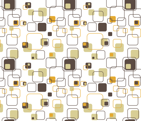 Mid-Century Modern - Retro Squares fabric by studiofibonacci on Spoonflower  - custom fabric