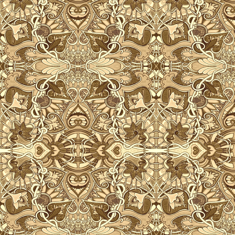Tangled Up in Sepia Strings fabric by edsel2084 on Spoonflower - custom fabric