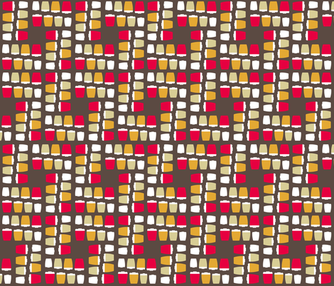 Canisters and floor tiles fabric by mama_teapot on Spoonflower - custom fabric