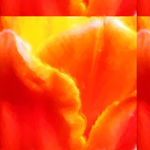 Orange Tulip Pillowtop