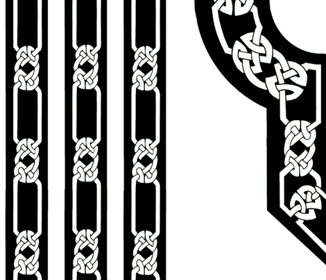 collar and trim black white fabric by ingridthecrafty on Spoonflower - custom fabric