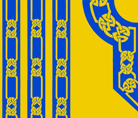 collar and trim gold blue fabric by ingridthecrafty on Spoonflower - custom fabric