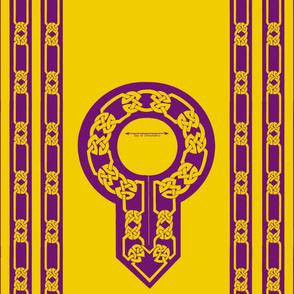 collar and trim gold purple