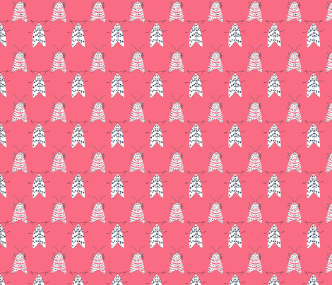 Rattlebox Moths in Pink fabric by prettypenny on Spoonflower - custom fabric