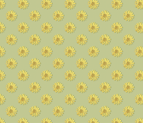 Flower Toss fabric by littlerhodydesign on Spoonflower - custom fabric