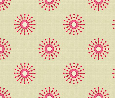 starburst_red_copy fabric by littlerhodydesign on Spoonflower - custom fabric