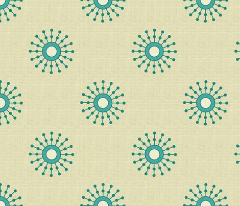 starburst_teal fabric by littlerhodydesign on Spoonflower - custom fabric