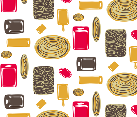 Cutting Boards fabric by lauriebaars on Spoonflower - custom fabric
