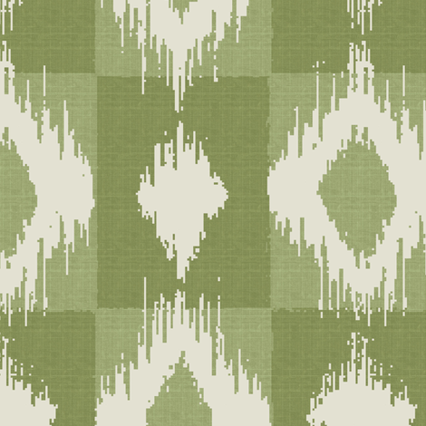 Ikat Apple fabric by littlerhodydesign on Spoonflower - custom fabric