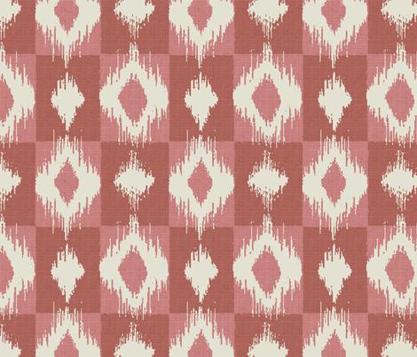 Ikat Blush fabric by littlerhodydesign on Spoonflower - custom fabric