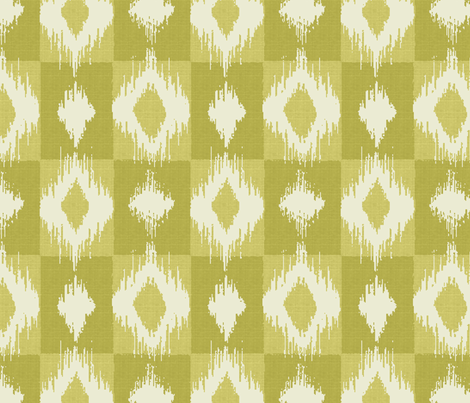 Ikat Butter fabric by littlerhodydesign on Spoonflower - custom fabric