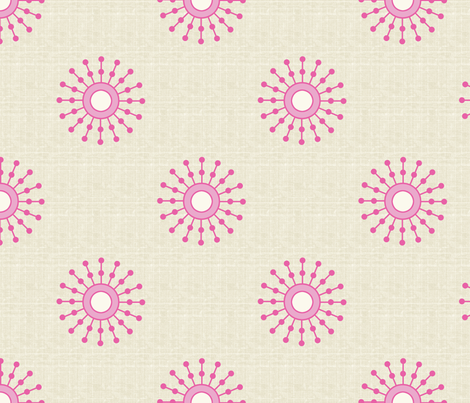 Starburst Bubblegum fabric by littlerhodydesign on Spoonflower - custom fabric
