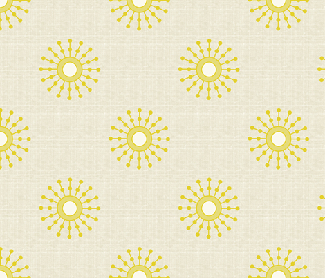 Starburst Sunshine fabric by littlerhodydesign on Spoonflower - custom fabric