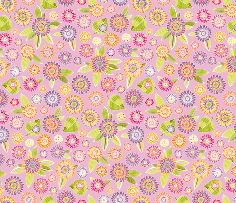 Purple Flower Pop fabric by kayajoy on Spoonflower - custom fabric