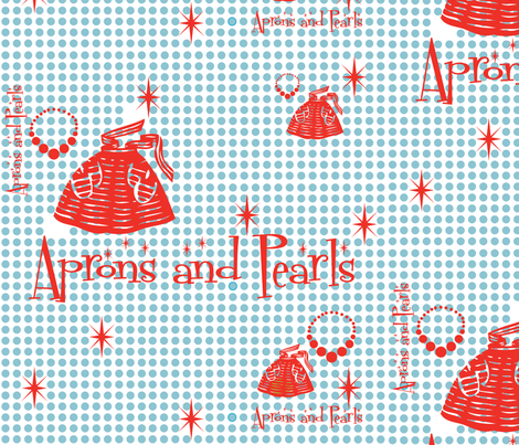 Retro_Kitchen fabric by julieantinucci on Spoonflower - custom fabric