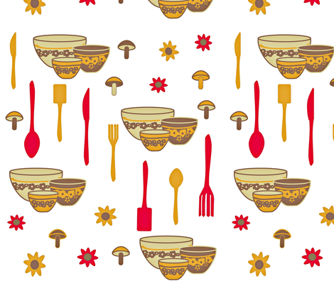 First Kitchen fabric by chovy on Spoonflower - custom fabric