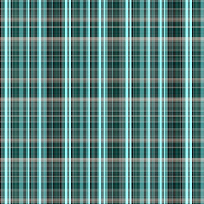Chocolate Tartan- Blue