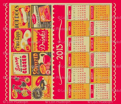 Retro Kitchen (Advertising) ~ 2013 Calendar/Tea Towel