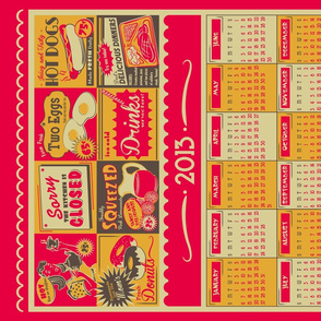 Retro Kitchen (Advertising) ~ 2013 Calendar/Tea Towel