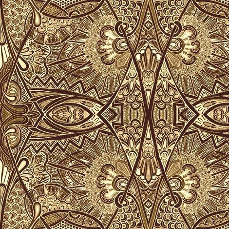 Dandelion Rocketship fabric by edsel2084 on Spoonflower - custom fabric