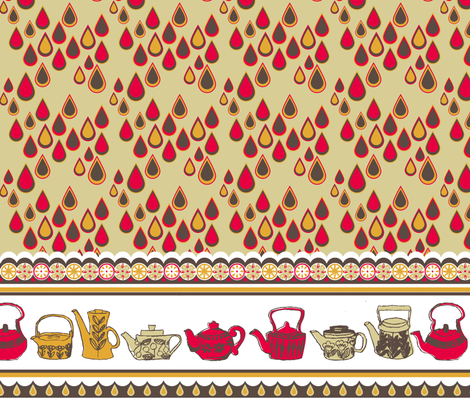 Granny_s_kitchen_curtains fabric by the_frogging_fox on Spoonflower - custom fabric
