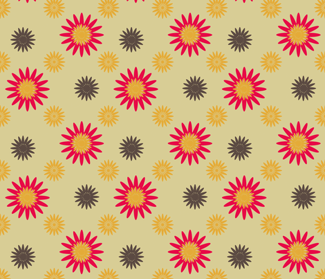 SpringFlowers-5-2 fabric by grannynan on Spoonflower - custom fabric