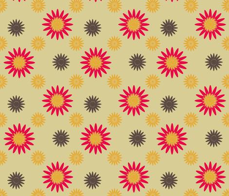 SpringFlowers-5-2 fabric by grannynan on Spoonflower - custom fabric